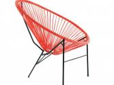 ogrodowe krzesło acapulco czerwone