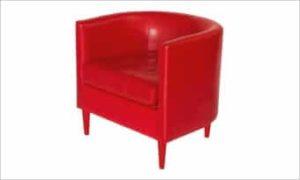 fotel BILBAO czerwony