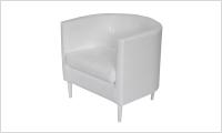 fotel BILBAO biały