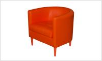 fotel BILBAO pomarańczowy