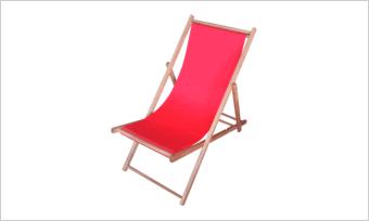 leżak SUN czerwony