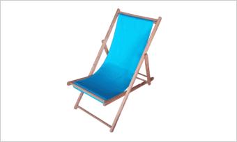 leżak SUN niebieski