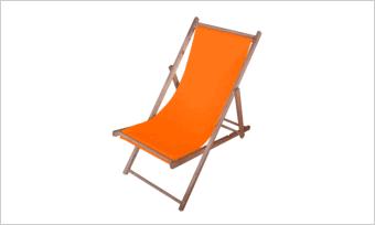 leżak SUN pomarańczowy