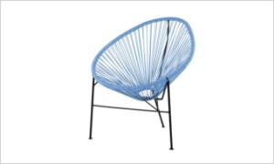 fotel ACAPULCO niebieskie