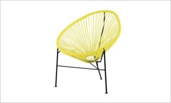 fotel ACAPULCO żółty