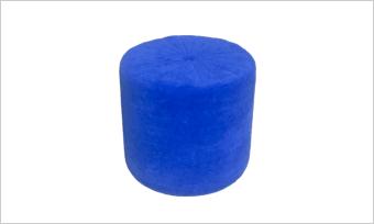 pufa GLAM 45 niebieska