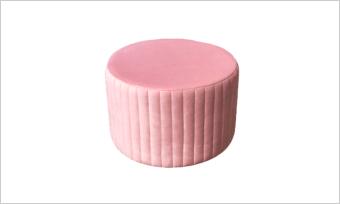 pufa GLAM 55 różowa