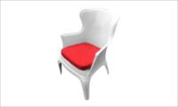 fotel PASHA red