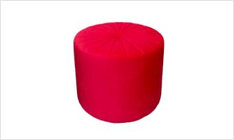 pufa glam 45 czerwona