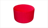 pufa glam 55 czerwona