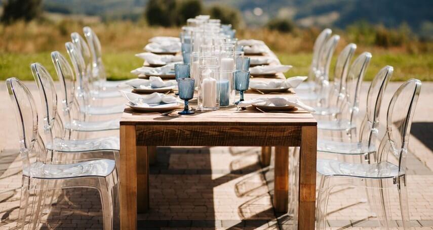krzesła na ślub wynajem